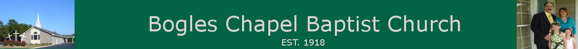 bogles chapel baptist church banner logo